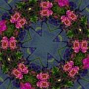 Kaleidoscope Lantana Wreath Art Print