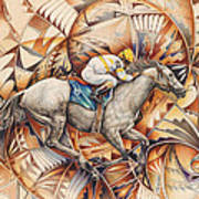 Kaleidoscope Rider Art Print