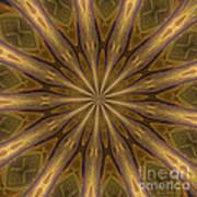 Kaleidoscope With Gold Art Print