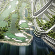 Kalpana One Golf Course Art Print
