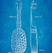 Kamaka Ukulele Patent Art 1928 Blueprint Art Print