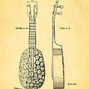 Kamaka Ukulele Patent Art 1928 Art Print