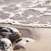 Kamaole Beach Rock Art Print
