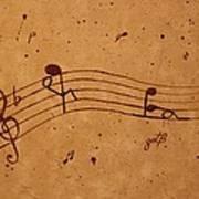 Kamasutra Abstract Music 2 Coffee Painting Art Print