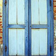 Kampot Blue Shutters Art Print