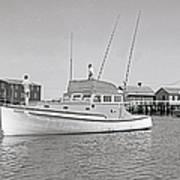 Kandy Of Barnstable Harbor 1950's Art Print