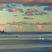 Kaneohe Bay Panorama Mural 3 Of 5 Art Print