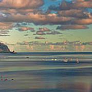 Kaneohe Bay Panorama Mural Art Print