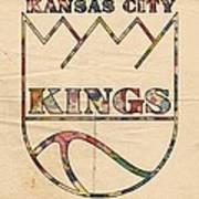 Kansas City Kings Retro Poster Art Print
