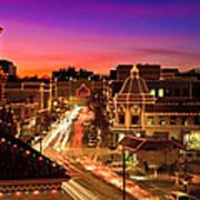 Kansas City Plaza Christmas Lights Skyline Art Print