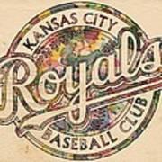Kansas City Royals Logo Vintage Art Print