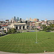 Kansas City Skyline And Park Art Print
