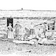 Kansas Early House, 1854 Art Print