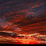 Kansas Prairie Sunset Art Print
