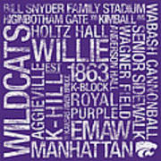 Kansas State College Colors Subway Art Art Print by Replay Photos