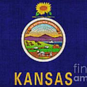 Kansas State Flag Art Print by Pixel Chimp