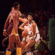 Kareem Abdul Jabbar Gets Rebound Print by Retro Images Archive