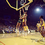 Kareem Abdul Jabbar Hook Print by Retro Images Archive