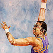 Kareem Abdul Jabbar Art Print by Michael  Pattison
