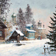 Kargopol. Onezhskaya Lane Art Print