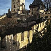 Karlstejn Castle Color Art Print