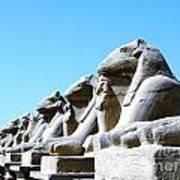 Karnak Temple Statue 14 Art Print