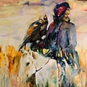 Kasak With Falcon Art Print
