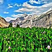 Kashmir Field Art Print
