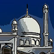 Kashmir Mosque 2 Print by Steve Harrington