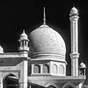 Kashmir Mosque Monochrome Art Print by Steve Harrington