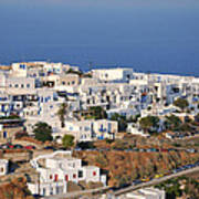 Kastro Village In Sifnos Island Art Print