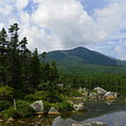 Katahdin From Sandy Stream Pond Art Print