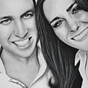 Kate And William Art Print by Samantha Howell