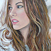 Kate Beckinsale Art Print