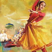 Kathak Dance Art Print