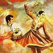 Kathak Dancer Art Print