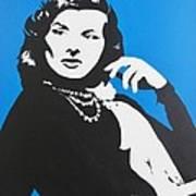Katharine Hepburn  Art Print by Juan Molina