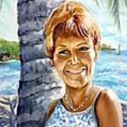 Kathy Smiles Art Print