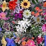 Kathy's Flowers Collage Art Print