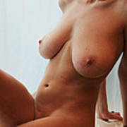 Katlyn- Window Nude 6 Art Print