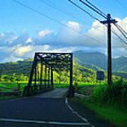 Kauai Bridge Art Print