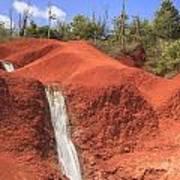 Kauai Red Dirt Waterfall Art Print