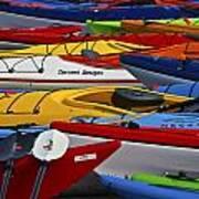 Kayak Explosion Art Print