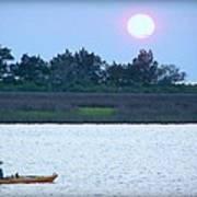 Kayak Fishing 1 Art Print