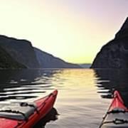 Kayak In Norway Art Print
