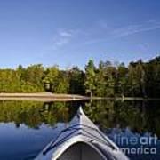 Kayak On Calm Lake Art Print