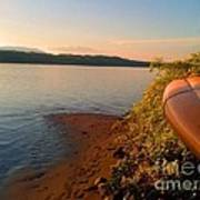 Kayak On The Hudson Art Print