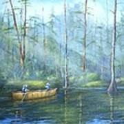 Kayak Rays Art Print by Rich Kuhn