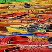 Kayak Spectrum Art Print
