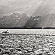 Kayakers On Jackson Lake Art Print